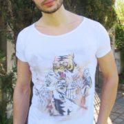 T-shirt Linea Manga: Uomo Tigre