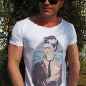 "T-shirt Linea Evergreen: ""Frida Kalho"""
